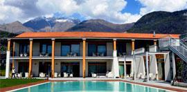 Tullio Hotel, strak en modern met privéstrand aan het Comomeer