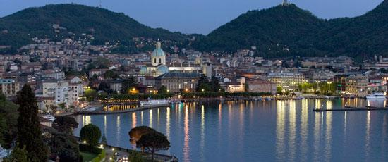 Como, de grootste stad aan het Comomeer